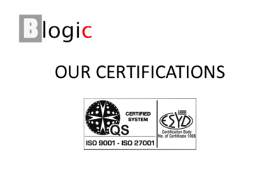 We are ISO 9001:2015 and ISO 27001:2013 certified